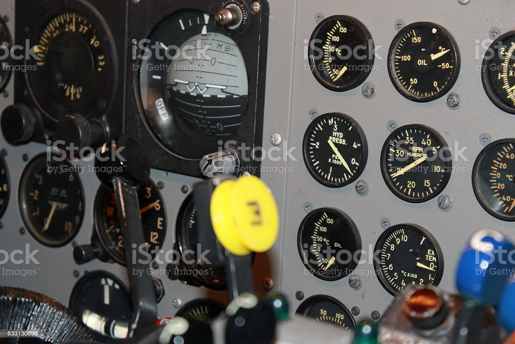 Aviation Dials and Gauges stock photo