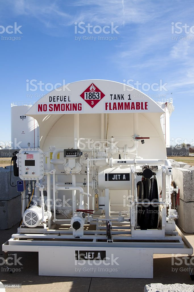 Aviation Fuel Depot XL royalty-free stock photo