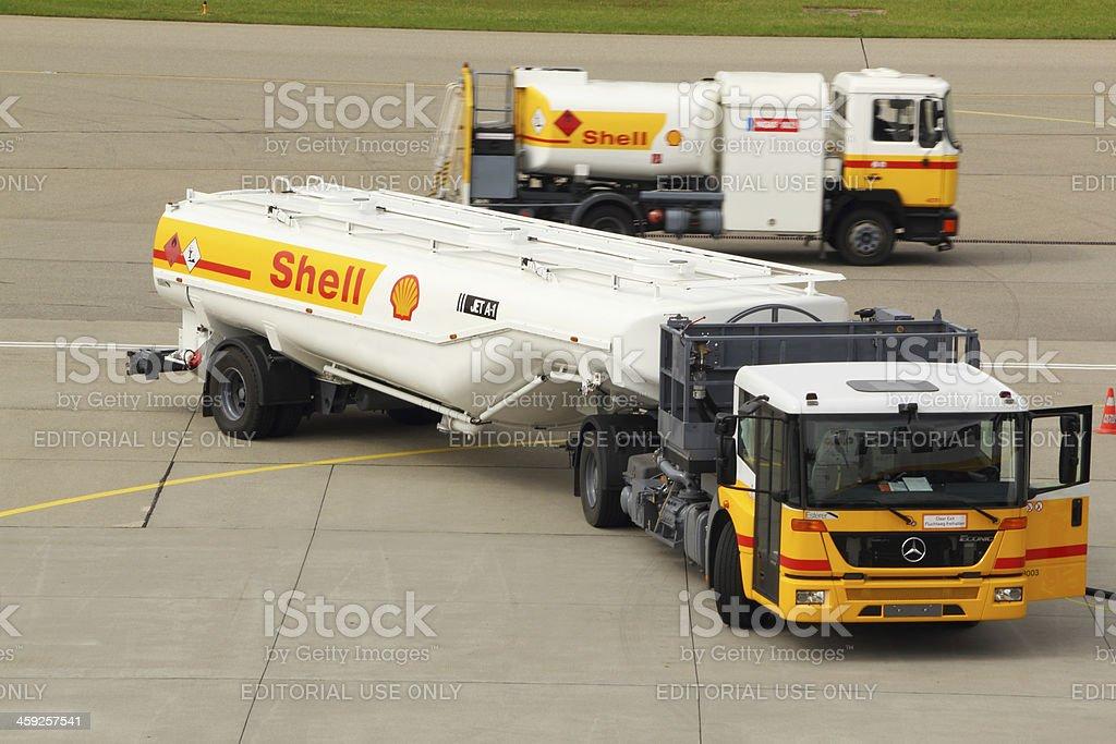 Aviation fuel truck royalty-free stock photo