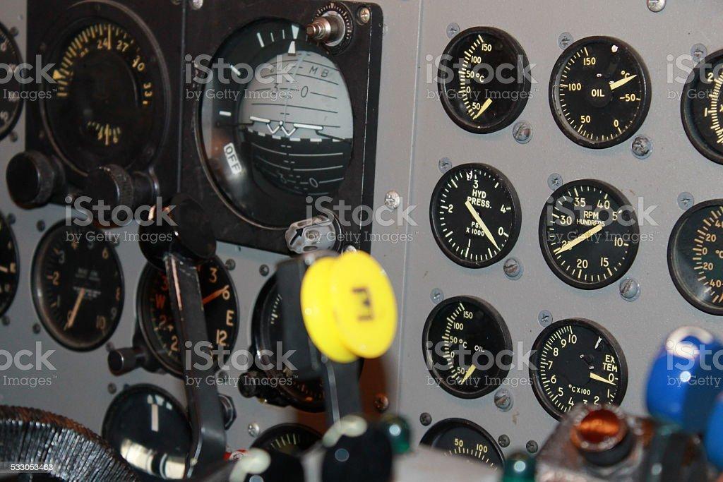 Aviation Gauges stock photo