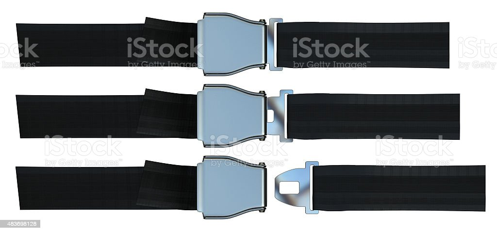 Aviation seat belt stock photo