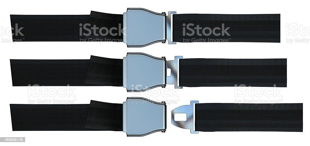 Aviation seat belt stock photo
