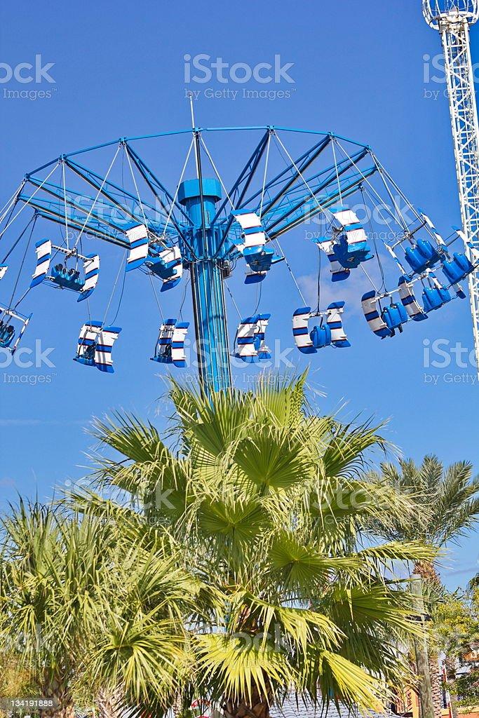 Aviator Amusement Park Swing stock photo