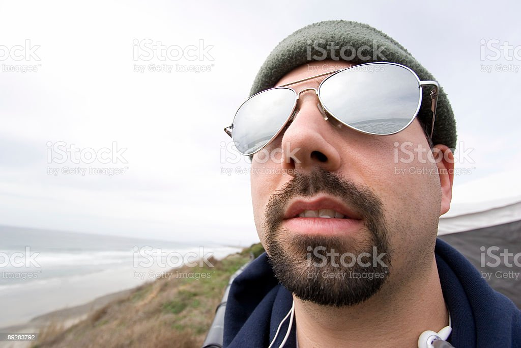 Aviator Glass on Man royalty-free stock photo