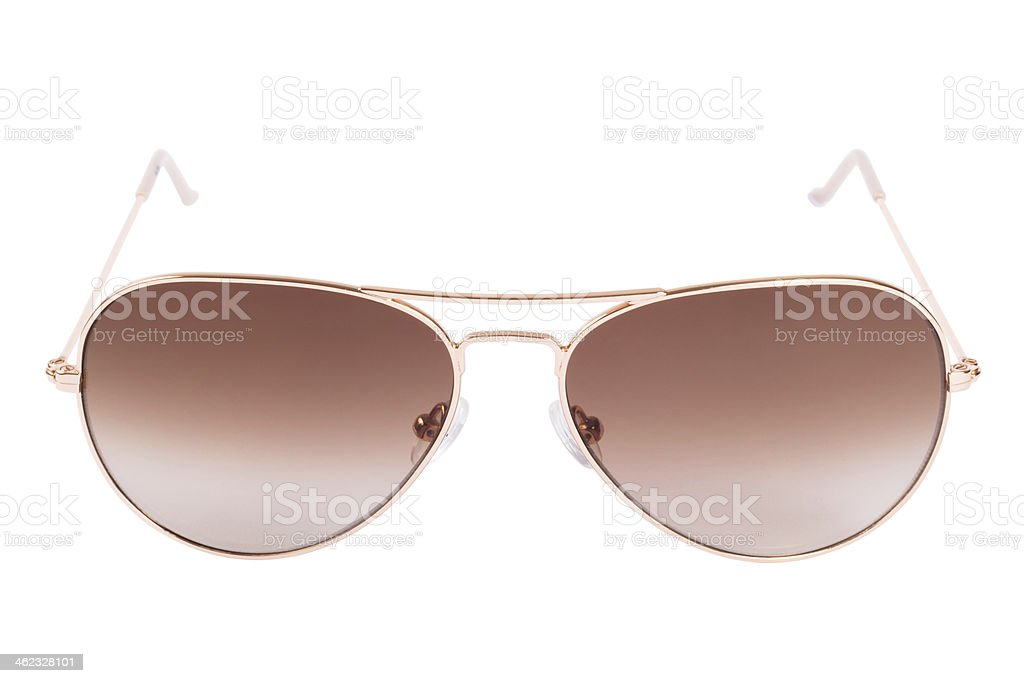 Aviator gradient sunglasses isolated on white background stock photo