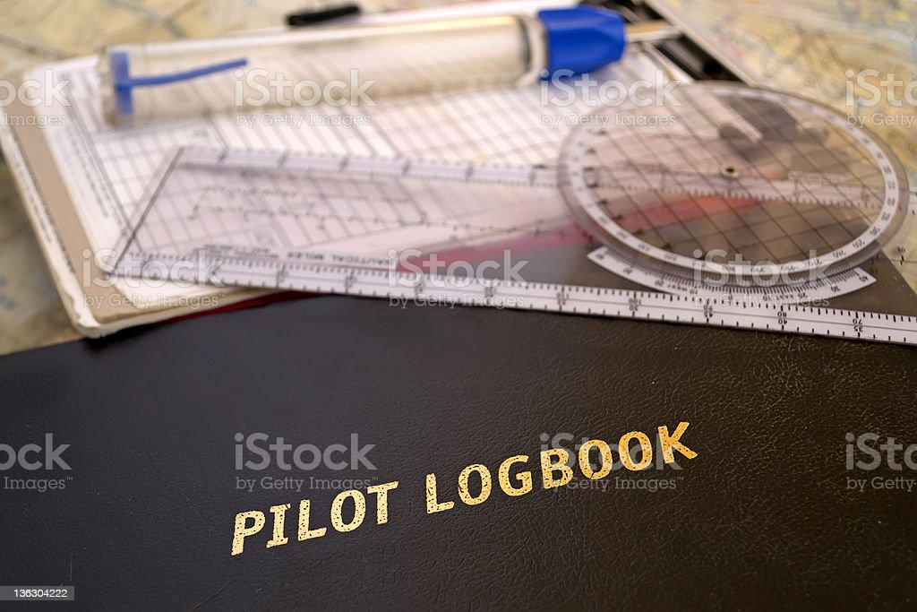 aviator logbook stock photo