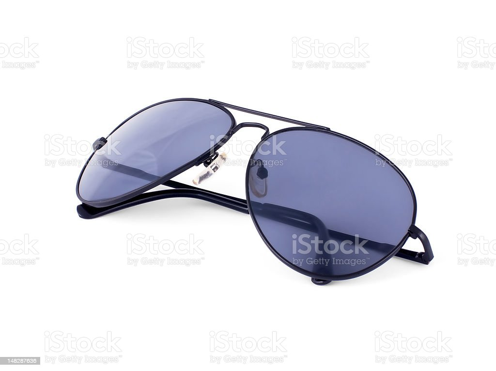 Aviator sunglasses isolated on white royalty-free stock photo