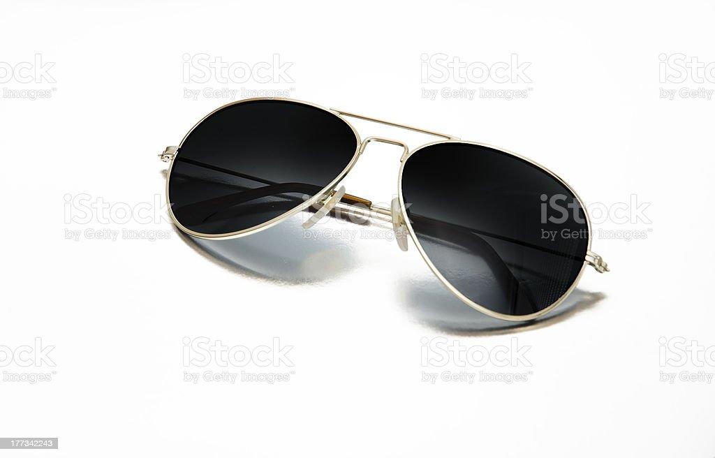Aviator sunglasses isolated on white stock photo