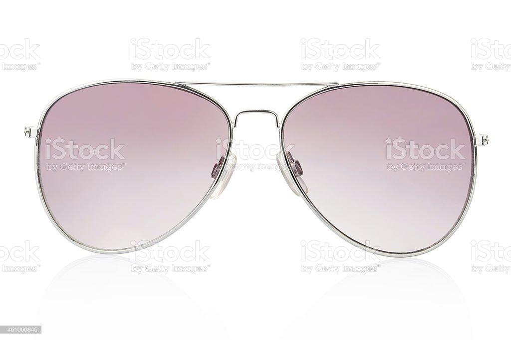 Aviator sunglasses isolated stock photo