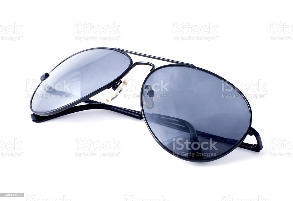 Aviator sunglasses on a white background royalty-free stock photo
