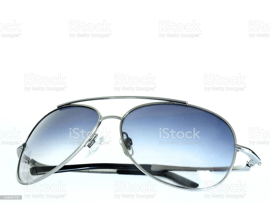 Aviator/retro style sunglasses stock photo