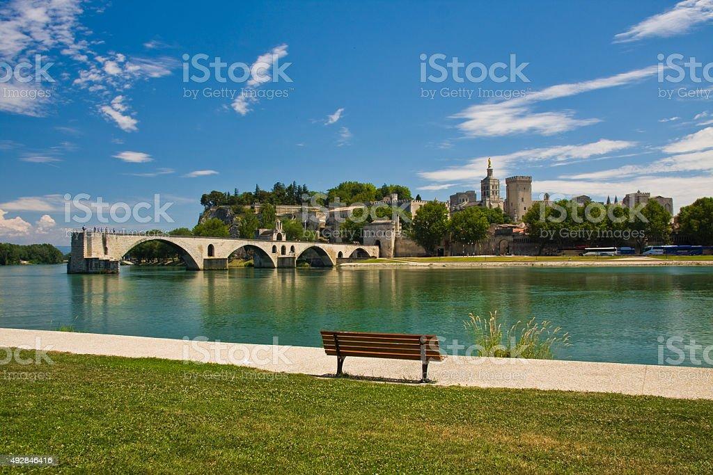 Avignon Bridge stock photo