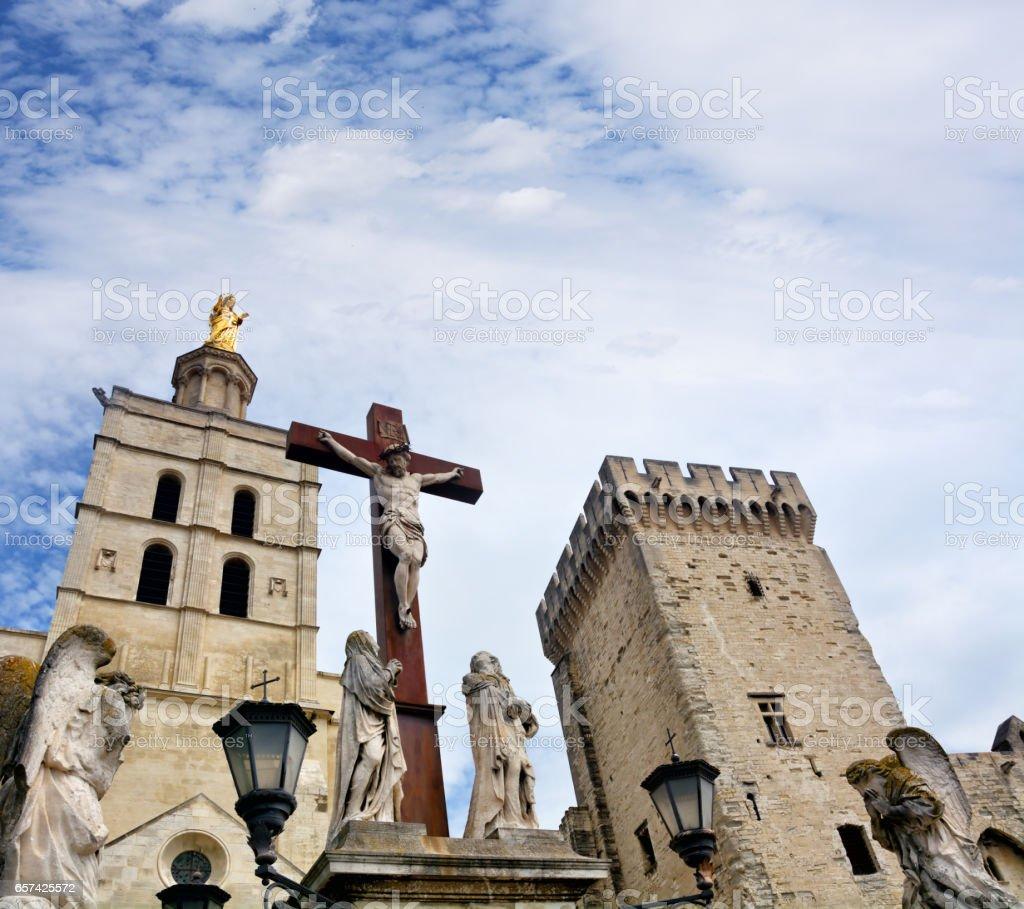 Avignon Cathedral, France stock photo