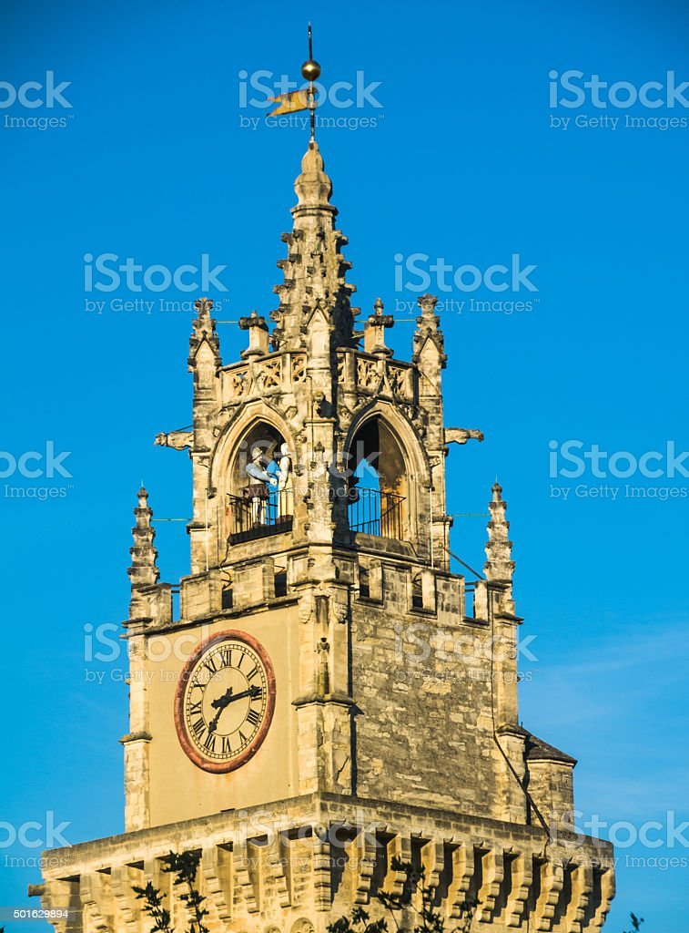 Avignon Clock Tower stock photo