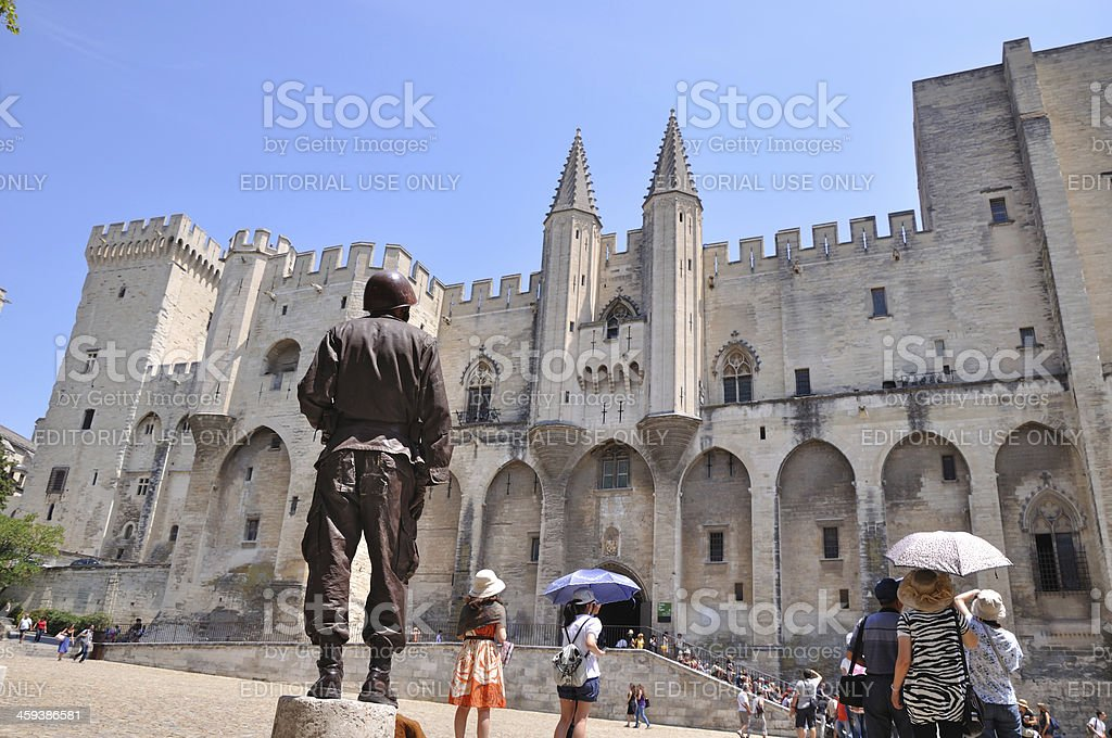 Avignon festival stock photo