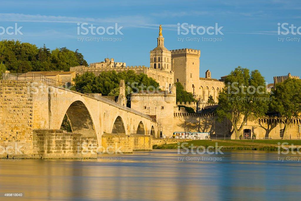 Avignon in a summer evening stock photo