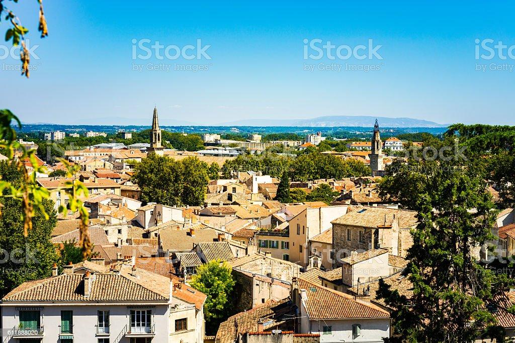 Avignon overview stock photo