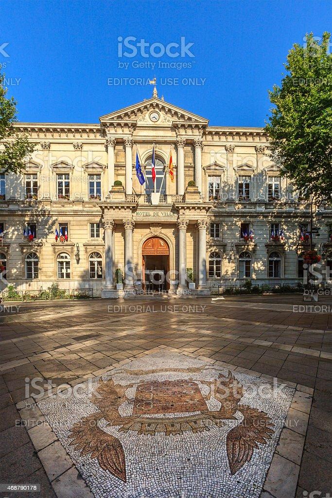 Avignon, the City Hall - France stock photo