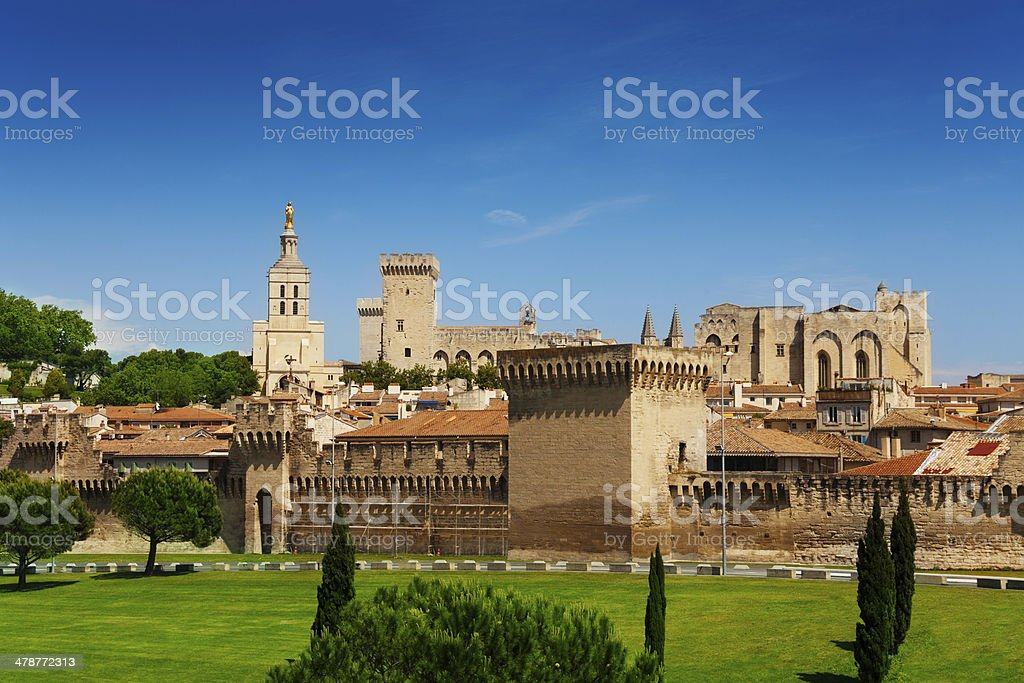 Avignon town in Provence province stock photo