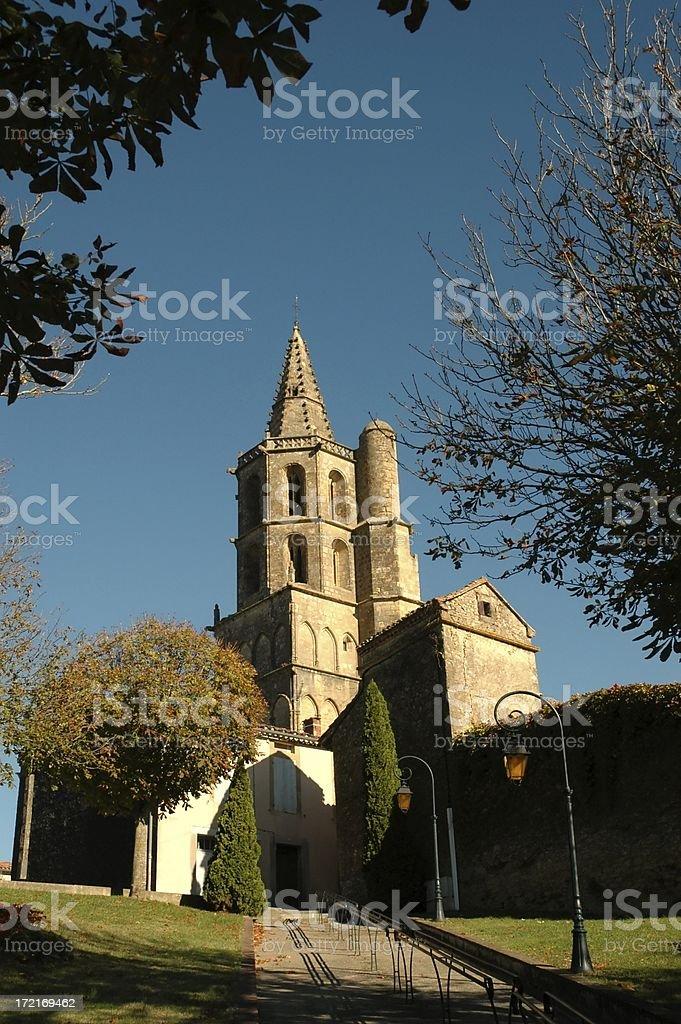 Avignonet (Church) - Bellow view royalty-free stock photo