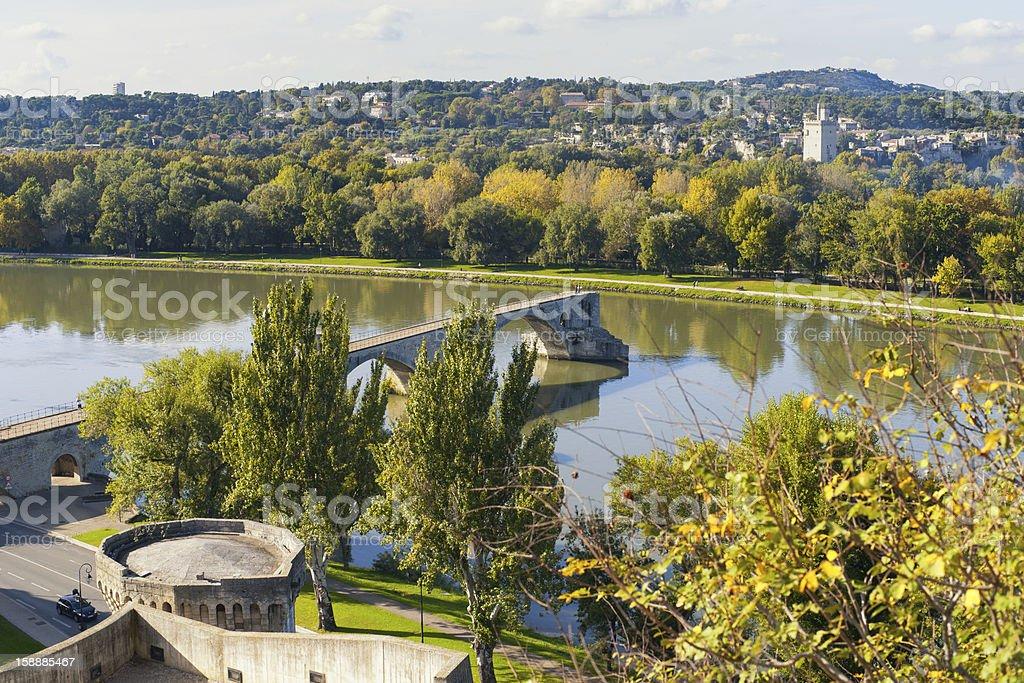 Avignon's bridge royalty-free stock photo