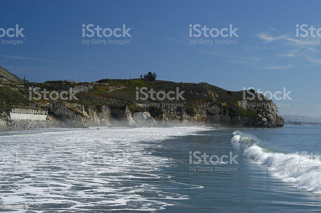 Avila Beach Rock Point stock photo
