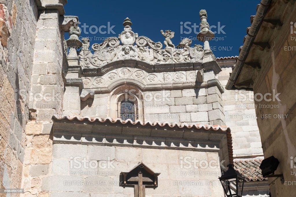 Avila (Castilla y Leon, Spain): cathedral stock photo