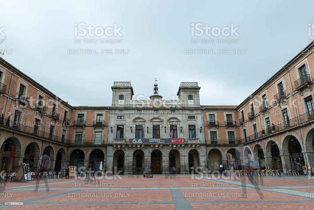 Avila City Hall and Main Square stock photo