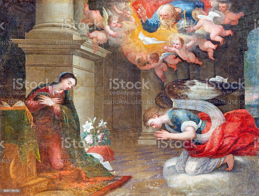 Avila - The Annunciation painting stock photo