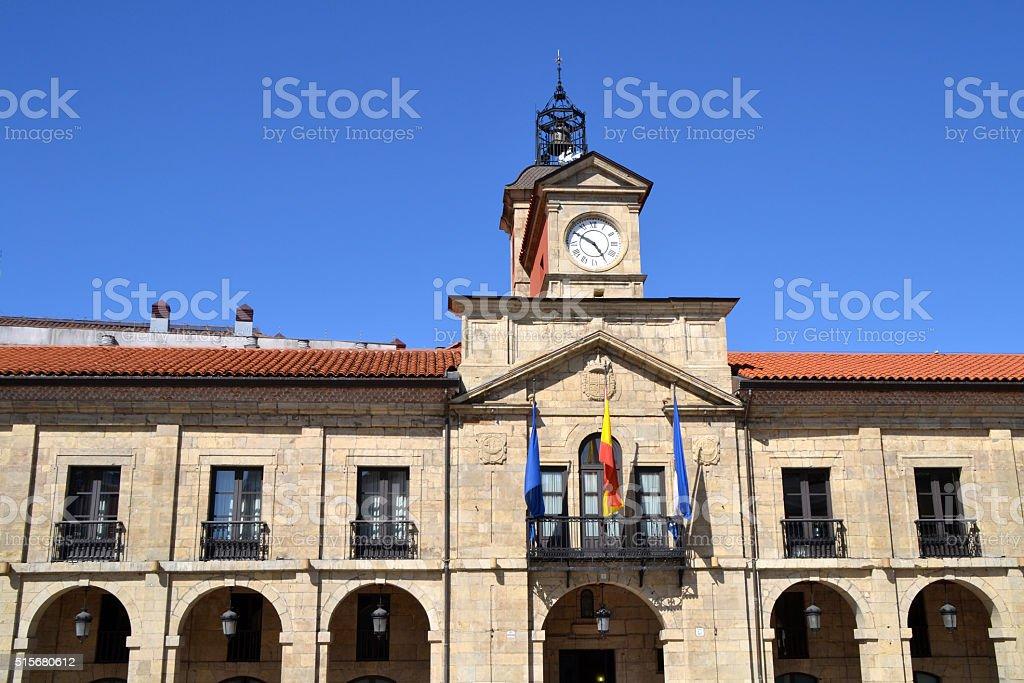 Aviles city hall in Asturias, Spain stock photo