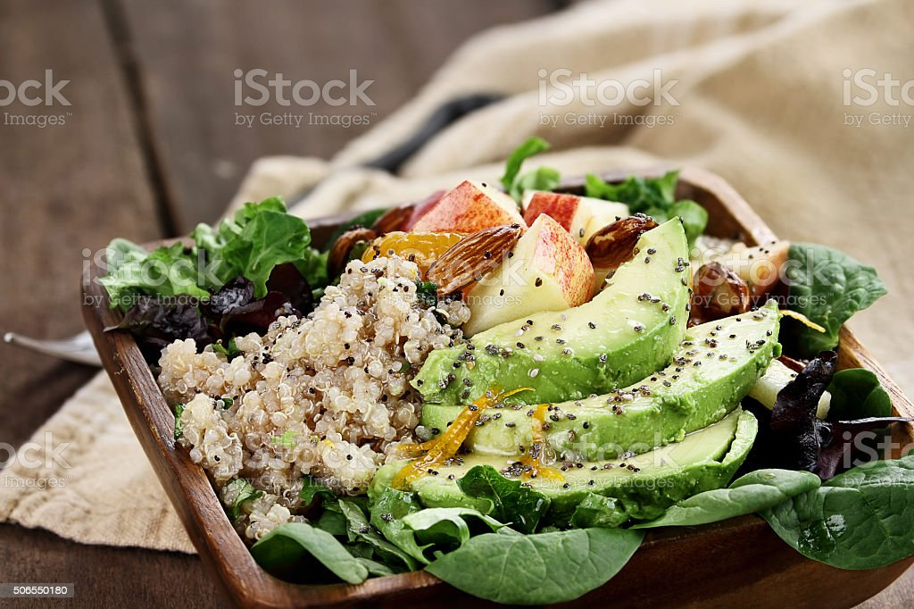Avocado and Apple Salad stock photo