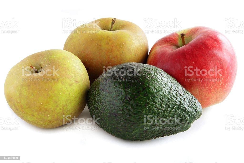 avocado and apples royalty-free stock photo
