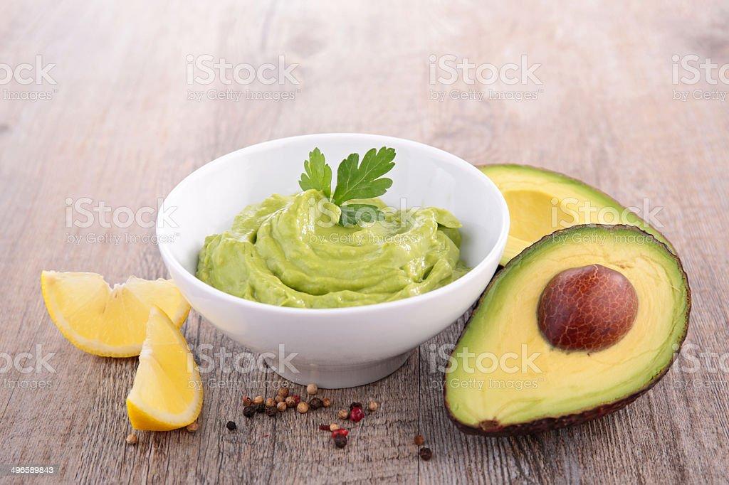 avocado and guacamole stock photo