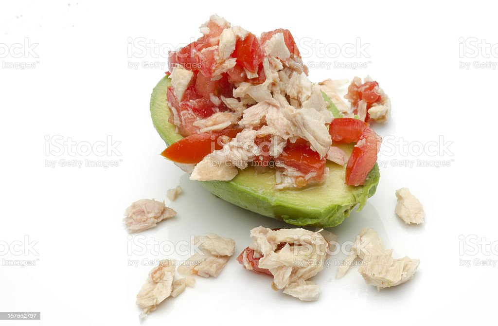 Avocado and Tuna Salad royalty-free stock photo