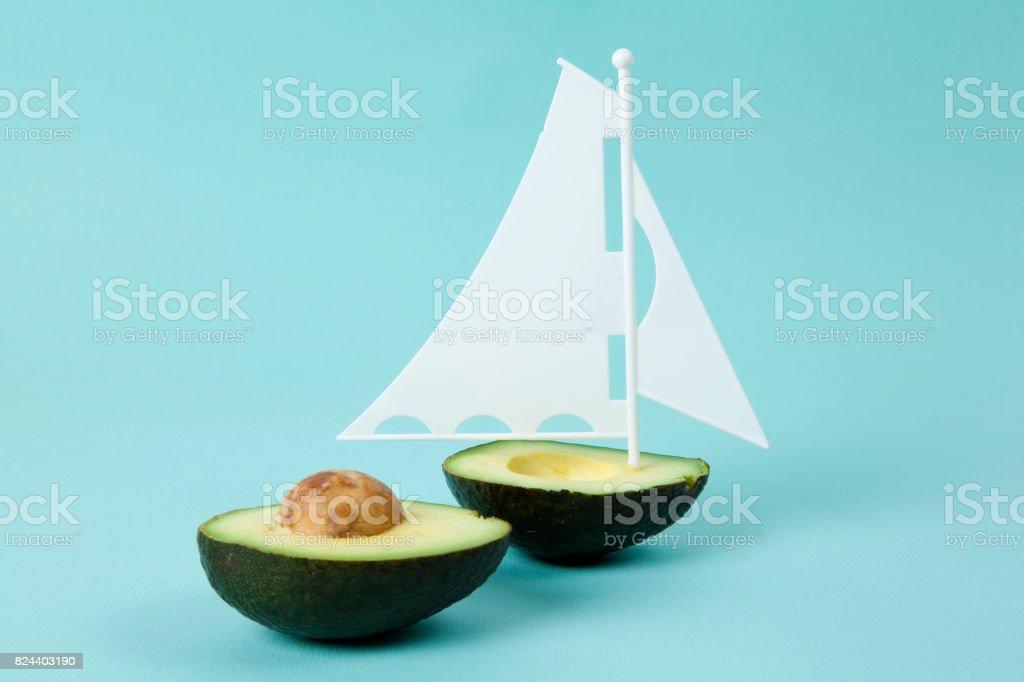 avocado boat stock photo