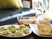 Avocado dip & Unsweet pound cake 'Cake sale' for lunch