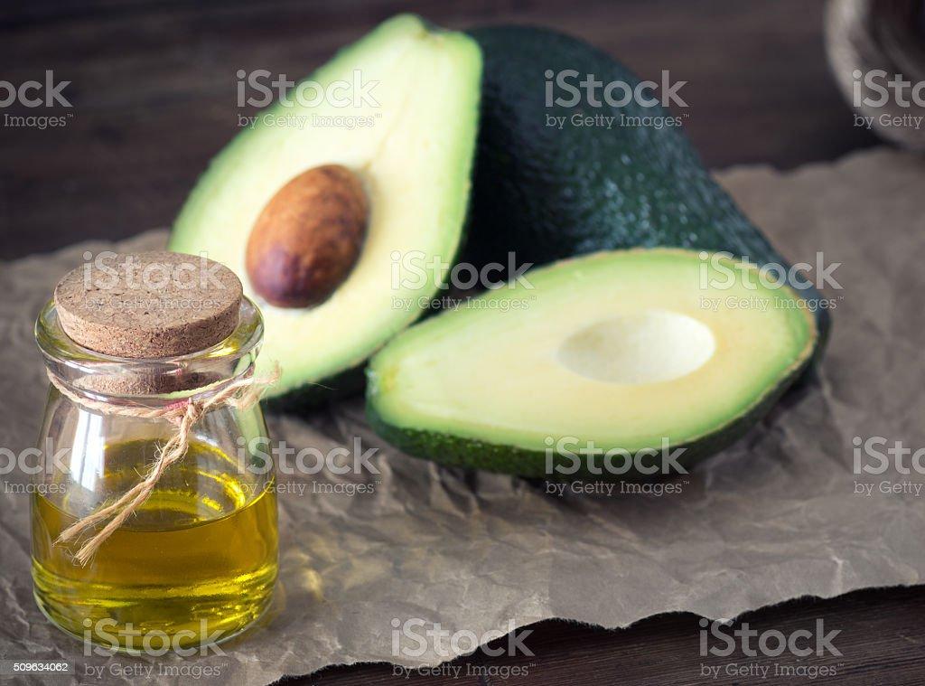 avocado essential stock photo