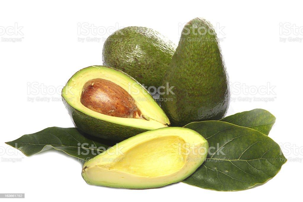 avocado fruit on a white background royalty-free stock photo
