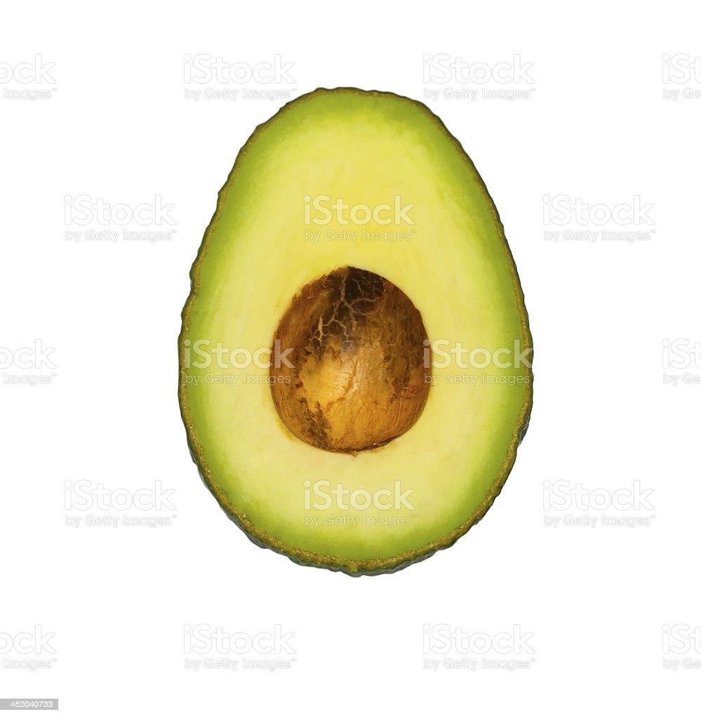 Avocado isolated on white background royalty-free stock photo
