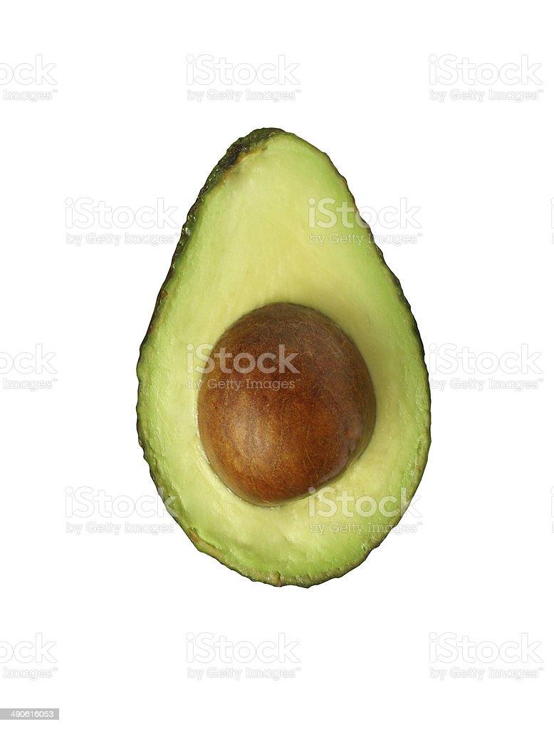 avocado isolated stock photo