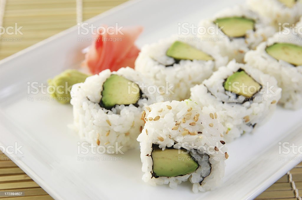 Avocado roll royalty-free stock photo