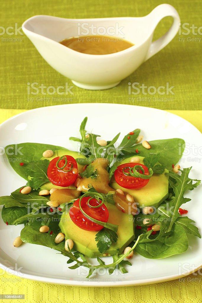 avocado salad stock photo