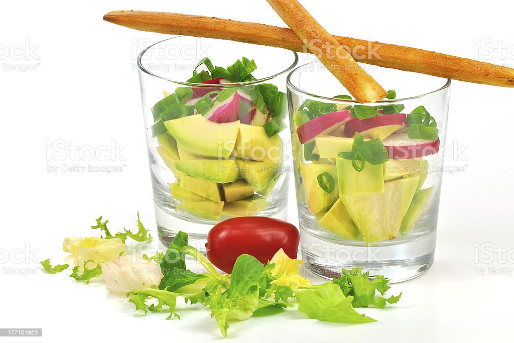 Salada de abacate foto royalty-free