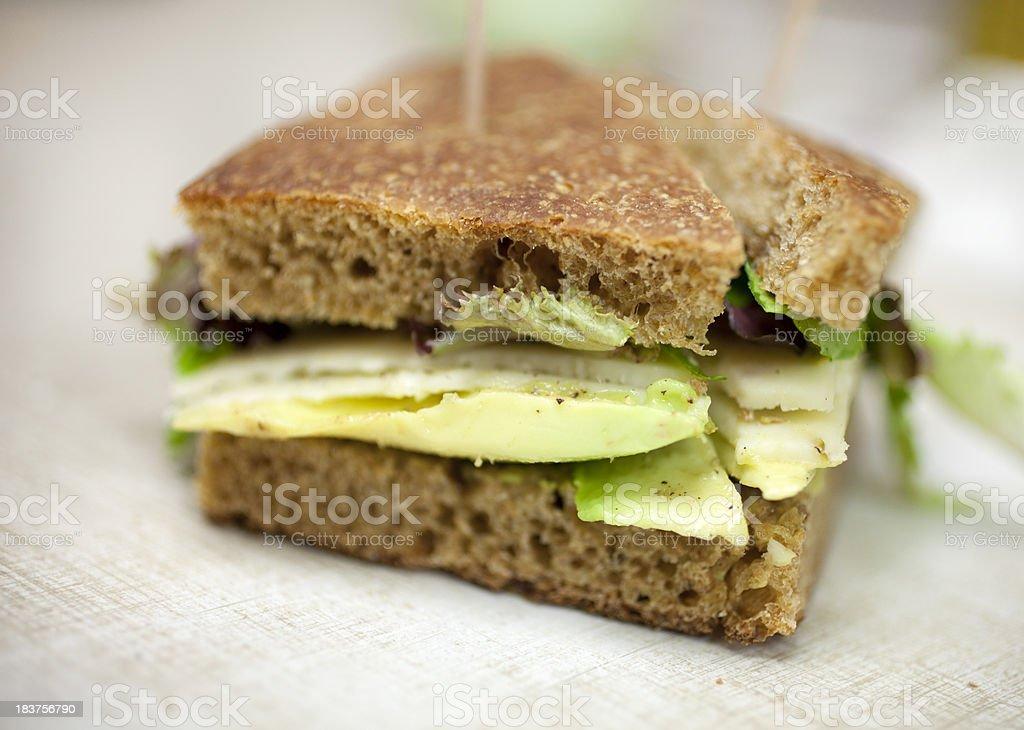 Avocado sandwich royalty-free stock photo