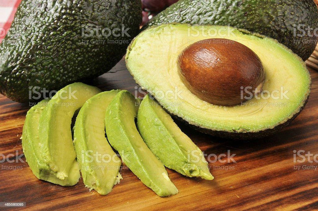 Avocado slices stock photo