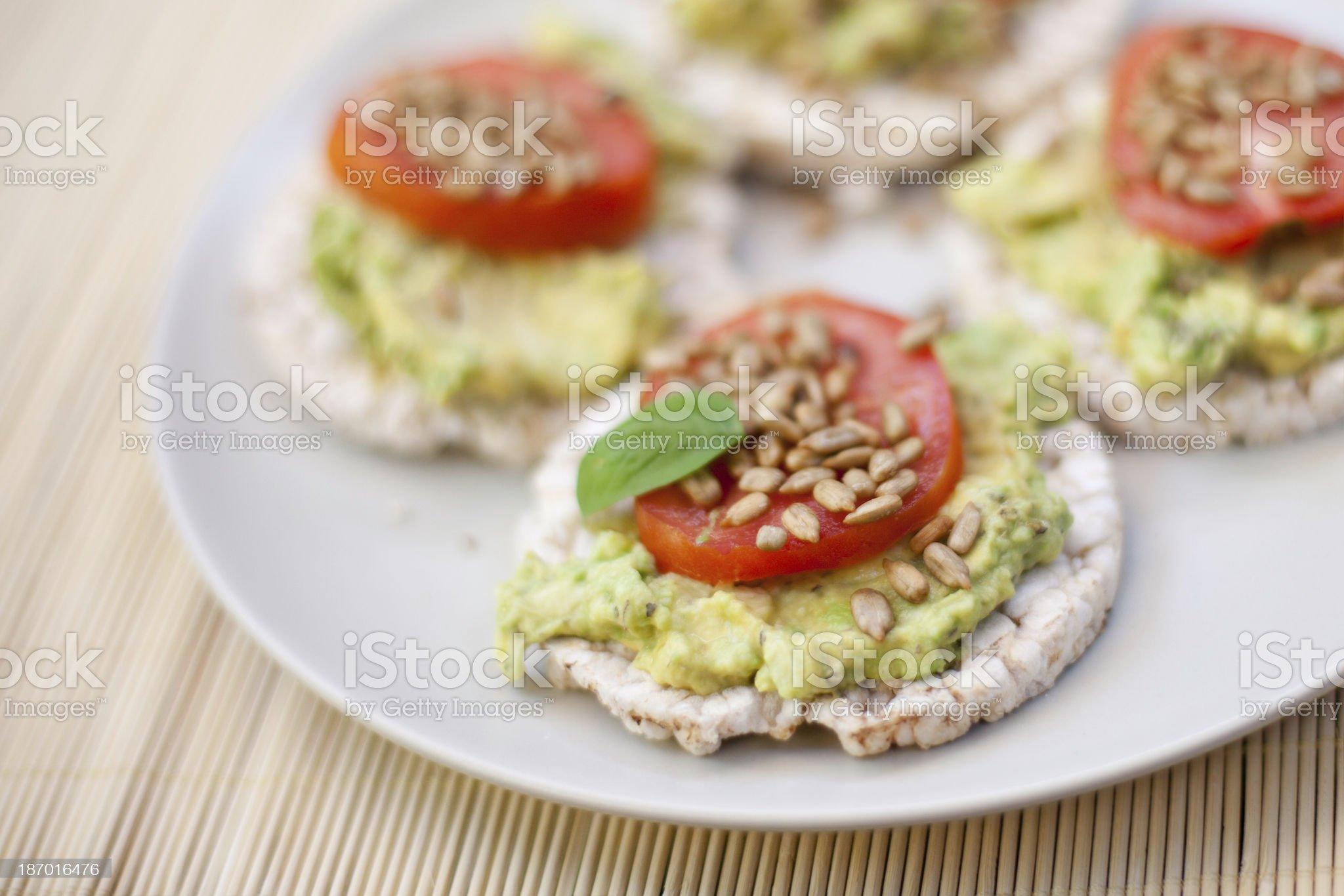 Avocado Snack royalty-free stock photo