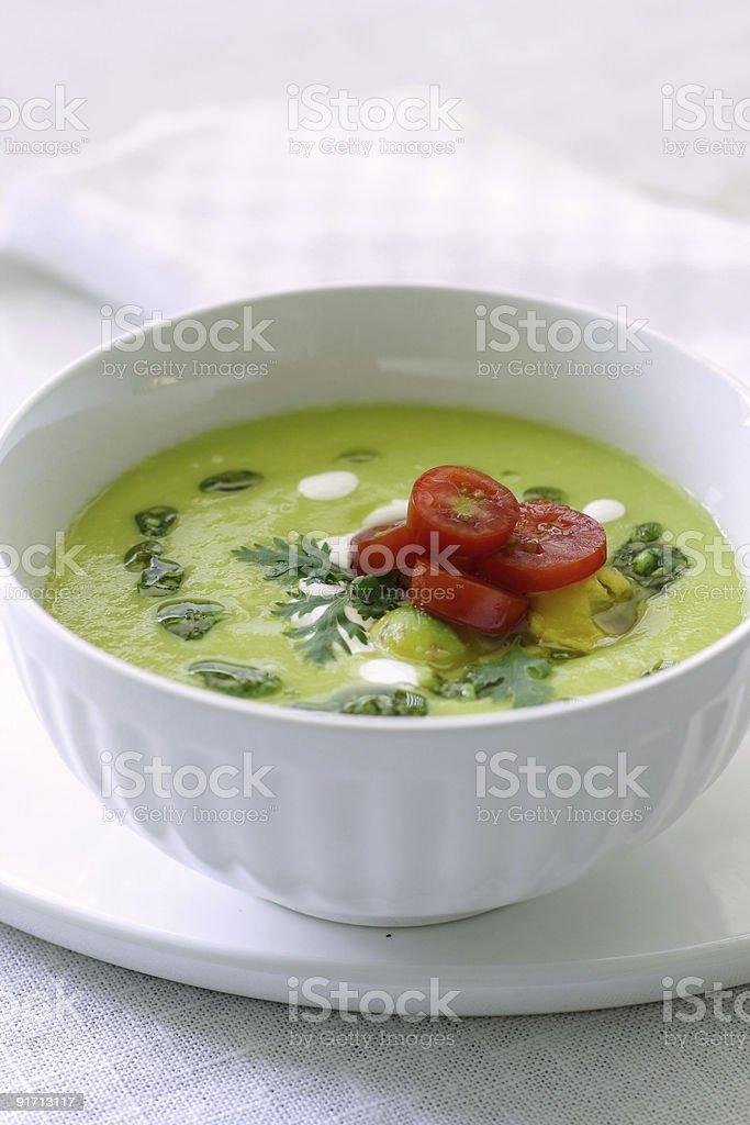 avocado soup royalty-free stock photo