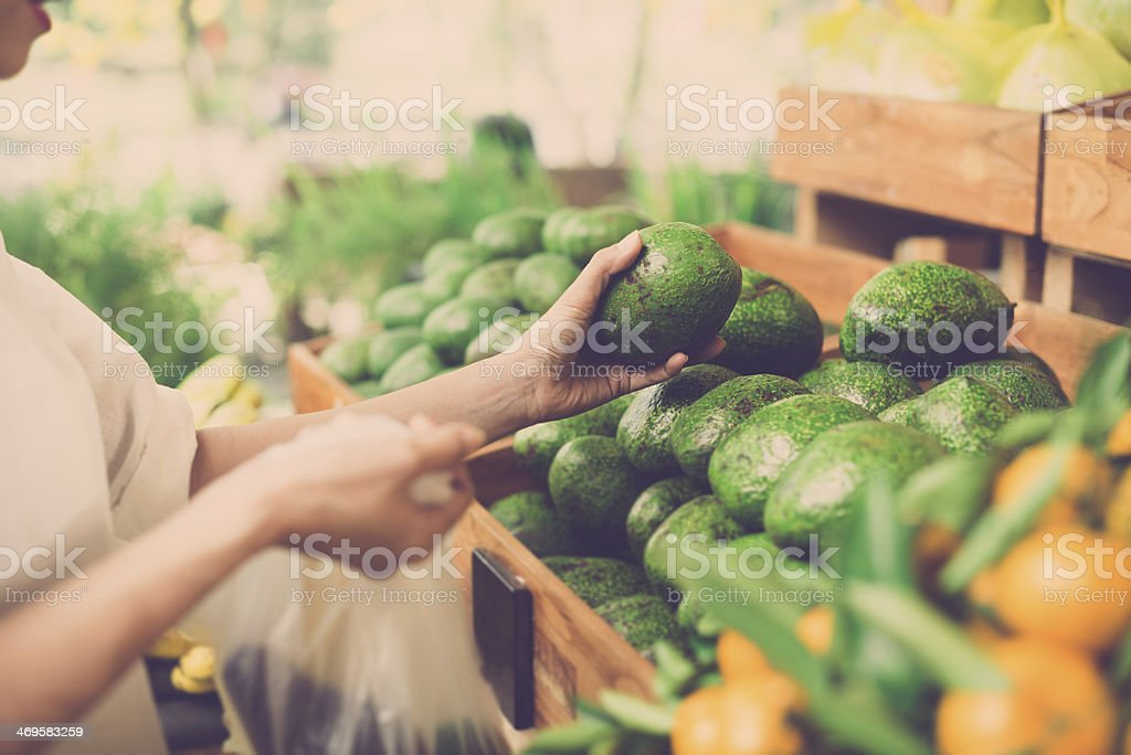 Avocados choosing stock photo