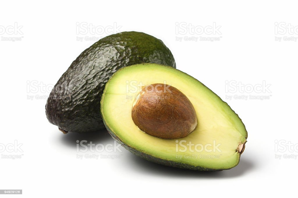 avocados isolated on white royalty-free stock photo