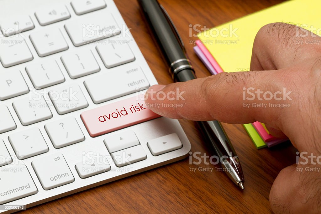 Avoid Risk stock photo